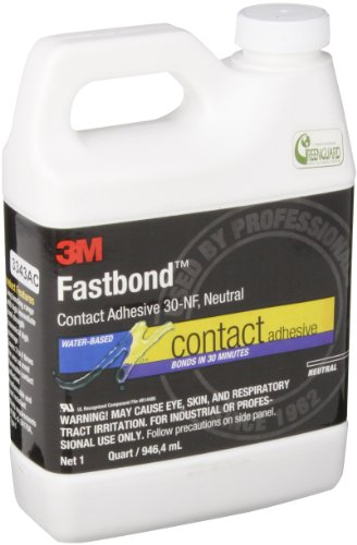 - 3M 30NF Fastbond Contact Adhesive, Neutral 1 Qt. Bottle (Pack of 1)