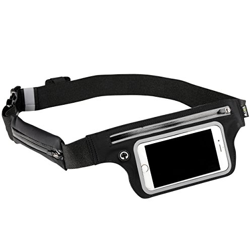 Money Belt Fanny Pack - EOTW Travel Pouch Running Belt Waist Bag Phone Pocket Holder With Clear Window For Keys Cashes ID Card Ticket -Ultra Slim Adjustable For Traveling Vacation Walking Sports Gym