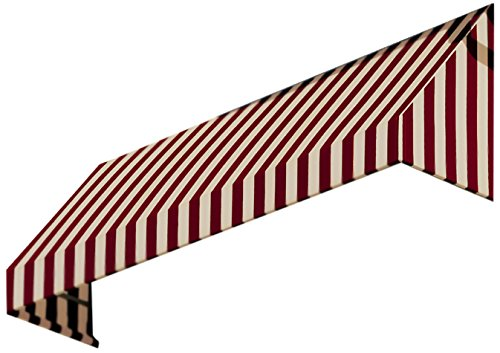Awntech 3-Feet New Yorker Window/Entry Awning, 44-Inch Height by 48-Inch Diameter, Burgundy/Tan