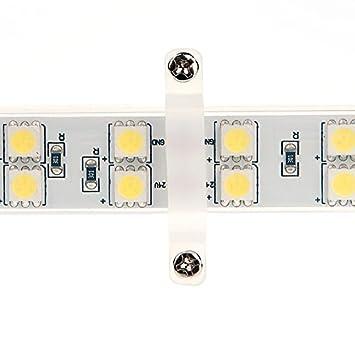 5M 16.4FT 5400LM 12V DC 72W IP65 LED Tape 2-Pack Daylight White 5000K HERO-LED  5M300TAW-DW LED Strip Tape Light