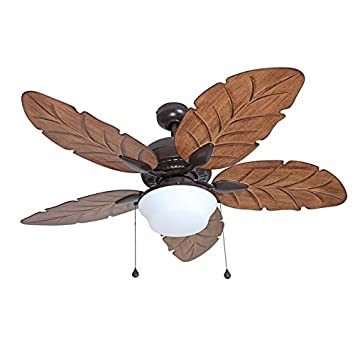 Harbor Breeze Waveport 52-in Bronze Outdoor Downrod Mount Ceiling Fan with Light Kit