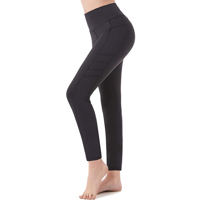 574bf63cd5184 Picotee Women s Workout Leggings High Waist Yoga Pants Running Leggings Gym  Workout Pants Pockets(Small