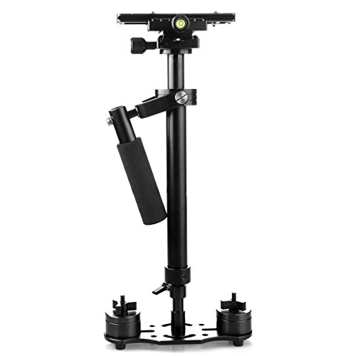 YaeCCC S60 Handheld Steadicam/Camera Stabilizer 24''/60cm with Quick Release Plate 1/4'' and 3/8'' Screw Pro Version for Nikon, Canon, Sony, Panasonic-Up to 6.61/3kg by YaeCCC