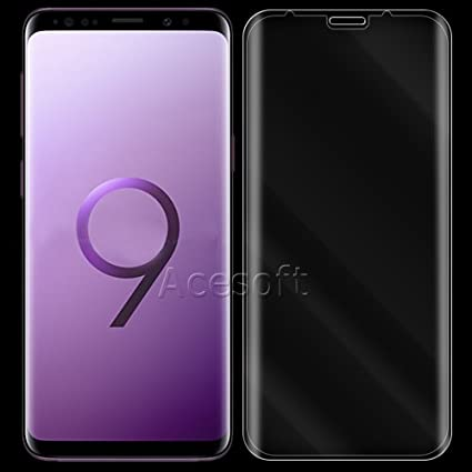 Full Coverage Premium Real Anti-Bubble Anti-Shatter Tempered Glass Screen Protector Guard Shield for Samsung Galaxy S8 Easy to Install SM-G955U Phone Black