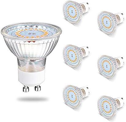 Sominue Bombillas LED GU10, 5W equivalentes a halógenas de 50W 220V MR16 Blanco frío Spot Light[Clase de eficiencia energética A+]