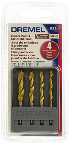(Dremel 631 Brad Point Bits, 4 Pieces)