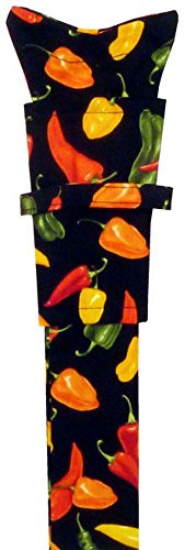 Stethoscope Cover - Mixed Chili Peppers on Black