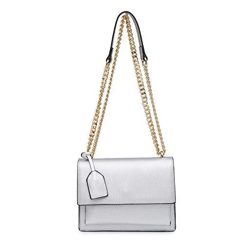 Long Ladies Shoulder New Craze Shoulder Bag Design Women Strap silver pocket Multi Bags Plain Envelop London BnqvT