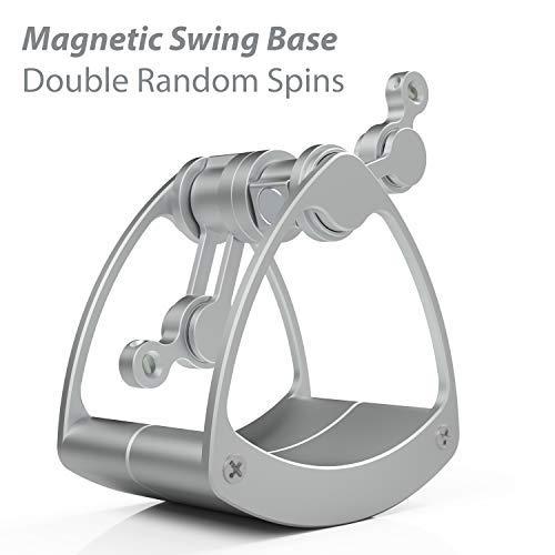Zensuno Double Pendulum Fidget Desktop Toy Random Chaos Spinner for Kids, Adult and Geeks (Spinner and Desktop Swing Base) by Zensuno (Image #2)