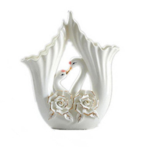 Swan Ceramic Decoration red and White - 4