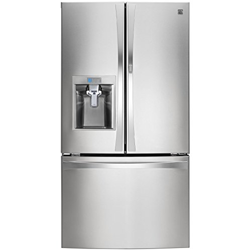 Kenmore Elite 74033 29.6 cu. ft. French Door Bottom Freezer Refrigerator with Grab-N-Go Door in Stainless Steel, includes delivery and hookup (Available in select cities only)