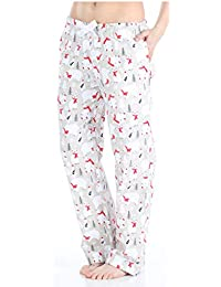 Women's Cotton Flannel Pajama PJ Pants with Pockets