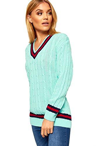 cricket du Femmes Pull avec un tricot Tailles irlandais V et WearAll col 36 Pulls 15EqFn
