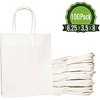 New Flat White Kraft Open Top Individual Packaging Bags Different QTY /& Sizes