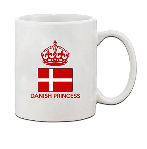 Danish Crown Princess (DANISH Princess Crown Ceramic Coffee Tea Mug Cup - Holiday Christmas Hanukkah Gift for Men & Women)