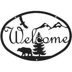 12 Inch Bear Welcome Sign Medium