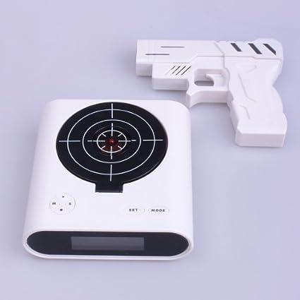 11ca28f9b73 Amazon.com: Infrared Wireless Target Gun Alarm Clock with LCD Screen: Home  & Kitchen