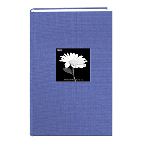 Fabric Frame Cover Photo Album 300 Pockets Hold 4x6 Photos, Sky Blue - 300 Pocket Photo Album