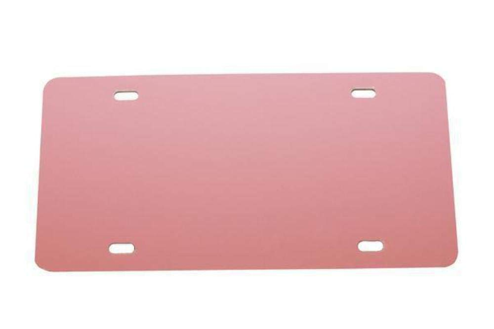 Plastic License Plate Vinyl Blank .020 Light Pink Laser Cut and Made in USA