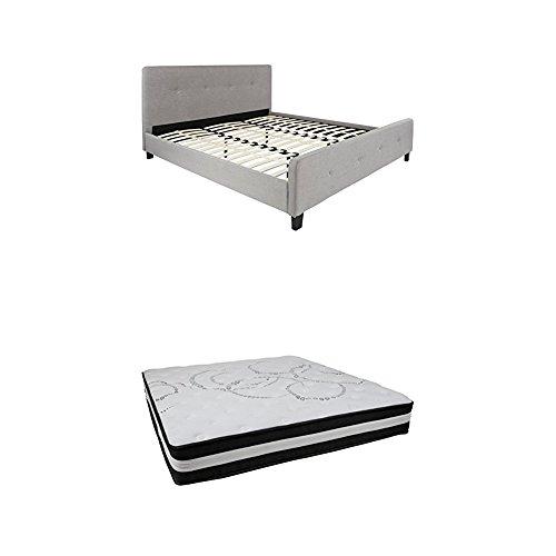Flash Furniture Tribeca King Size Tufted Upholstered Platfor