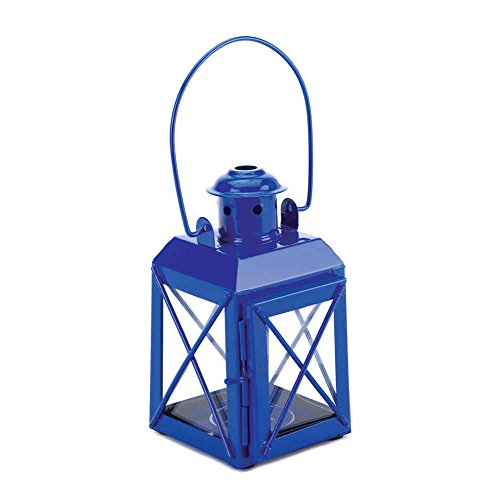 Indoor Outdoor Blue Railway Candle Lamp Railroad Carry Lantern (Mini Railroad Lantern)