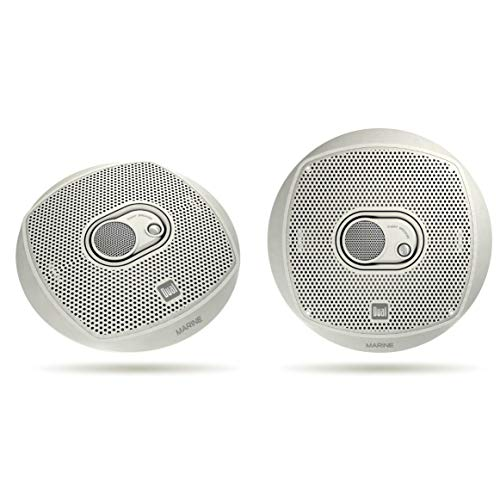 (Dual Electronics DMS365 Two 6.5 inch 3 Way Marine Speakers with 120 Watts of Peak)