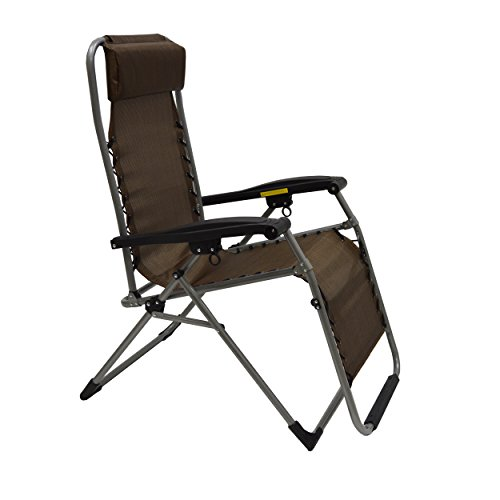 Mac Sports Folding Anti-Gravity Lounger (Dark Brown)