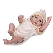 "Terabithia Tiny 10"" Lifelike Cute Adorable Reborn Baby Dolls Silicone Full Body Waterproof for Boy"