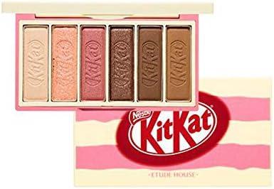 Ettude House X Kitkat Play Color Eyes Mini Eyeshadow Tiramisu Palette 6 Eyeshadow Colors In A Sweet Package Like Kitkat Doing Various Eye Makeup Matte Shemmer Glitter Type Eyeshadow Dab1087 Au Beauty