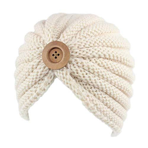 (URIBAKE Women's Retro Winter Wool Knitting Hat Turban Brim Ladies' Hat Cap Pile)