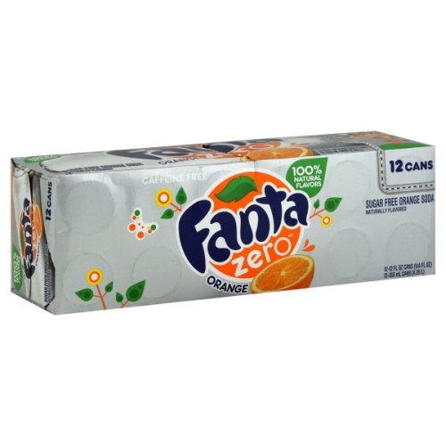 (Fanta Zero Soda, Orange, Sugar Free, Fridge Pack , 144 Fl. Oz.)