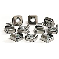 StarTech.com 50 Pkg M6 Cage Nuts for Server Rack Cabinet (CABCAGENUTS6) -
