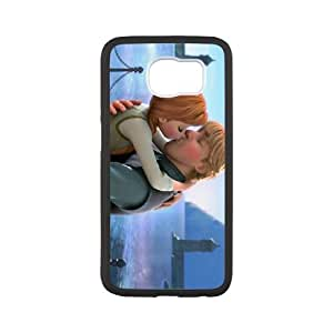 Samsung Galaxy S6 Cell Phone Case Black Frozen Character Anna VCE_04366