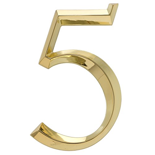 Whitehall Doors - Whitehall Products Classic 6 Inch number 5 Polished Brass, 6 Inch