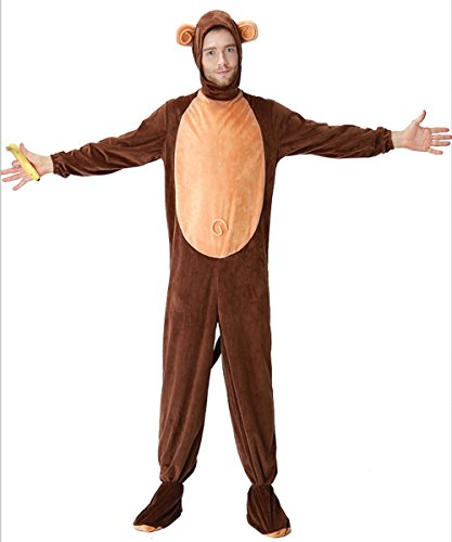 Newhui Halloween Animal Cosplay Monkey Costumes Funny Parent Child Hooded Pajamas