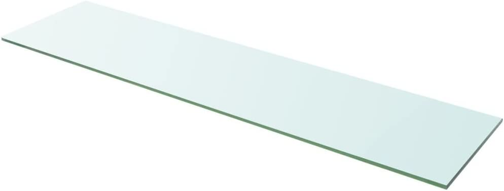 Regalboden Glas Transparent 100x25 cm Glasboden Einlegeboden Glasablage Glasregal Ersatzteile Tidyard