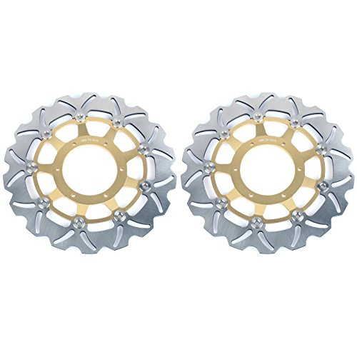 TARAZON Front Brake Discs Rotors For Honda CBR600F4i Supersport 2001 2002 2003 2004 2005 2006 2007