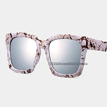 Aumento Sunyan el cuadrado negro hombres gafas de sol y la ...
