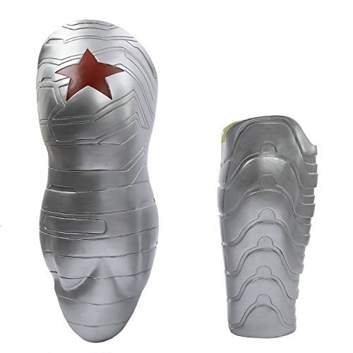 The Winter Cool Soldier Bucky Arm Sleeve Prop Silver Adult -V3 Plastic Version ()