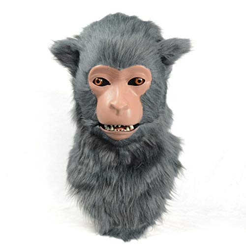 Compra calidad 100% autentica gris 2525 MásCocheas MásCocheas MásCocheas de animales para fiestas varias MásCochea de macaco de simulación animal para Halloween Faddish Realista hecho a mano másCochea móvil en forma de boca ( Color   gris , Talla   2525 )  de moda
