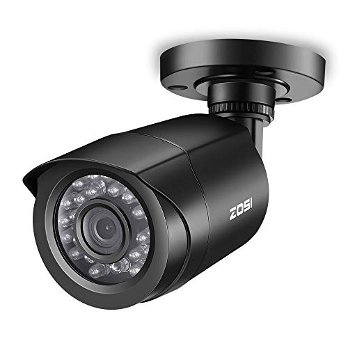 ZOSI 2.0MP FHD 1080p Security Camera Outdoor/Indoor (Hybrid 4-in-1 HD-CVI/TVI/AHD/960H Analog CVBS),24PCS LEDs,Long Night Vision,Weatherproof Surveillance CCTV Bullet Camera