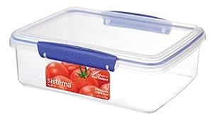 Sistema Klip It Klip It 2L Klip It Food Storage Container, Clear