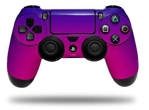Vinyl Skin Wrap for Sony PS4 Dualshock Controller Smooth Fades Hot Pink Blue (CONTROLLER NOT INCLUDED)