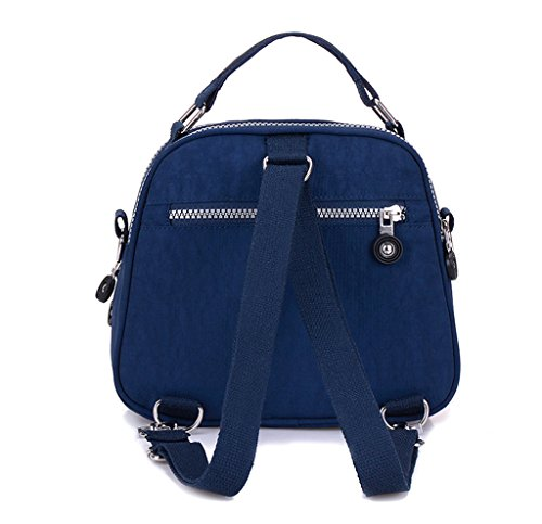 Color Crossbody Cell Tiny Handbag Navy Nylon Resistant Water Candy 2 Blue Dual Pouch Chou Bag Phone Mini Layers HHcEOq