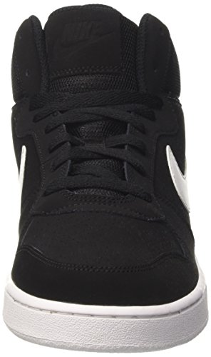 Top Court Hi Borough Nike Black White Black Men Mid Trainers 74SxS
