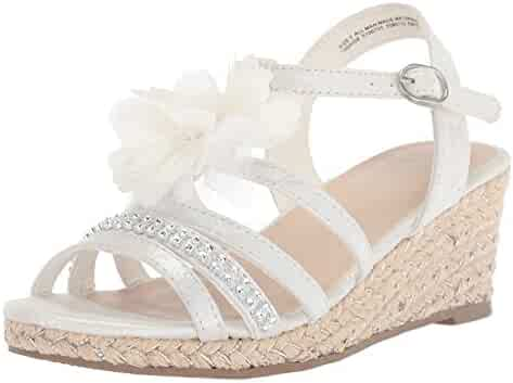 The Children's Place Kids' BG Flwr Jasmine Flat Sandal