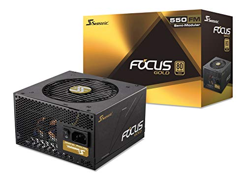 Seasonic FOCUS 550 Gold SSR-550FM 550W 80+ Gold ATX12V & EPS12V Semi-Modular  7 Year Warranty Compact 140 mm Size Power Supply (Dc Dc Atx Power Supply)