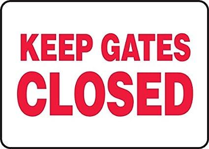 Keep puertas cartel de cerrado - 10