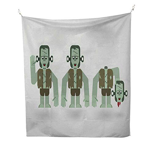 25 Home Decor Hippy Tapestries Characteristic of Frankenstein in Concept of Halloween Day Urban Outfitters Tapestries 57W x 74L INCH