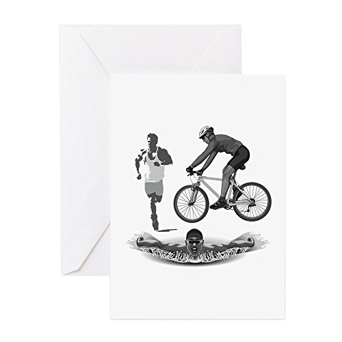 CafePress - Swim Cycle Run Triathlete - Greeting Card, Note Card, Birthday Card, Blank Inside - Cycle Run Swim